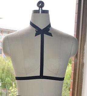 Сексуальное женское белье Harajuku готический тело жгут рейв носить kawaii с бантом ...