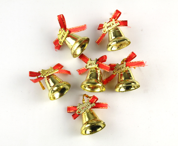 Cheap gold 3 3cm small jingle bells charms metal bell for Small gold christmas ornaments