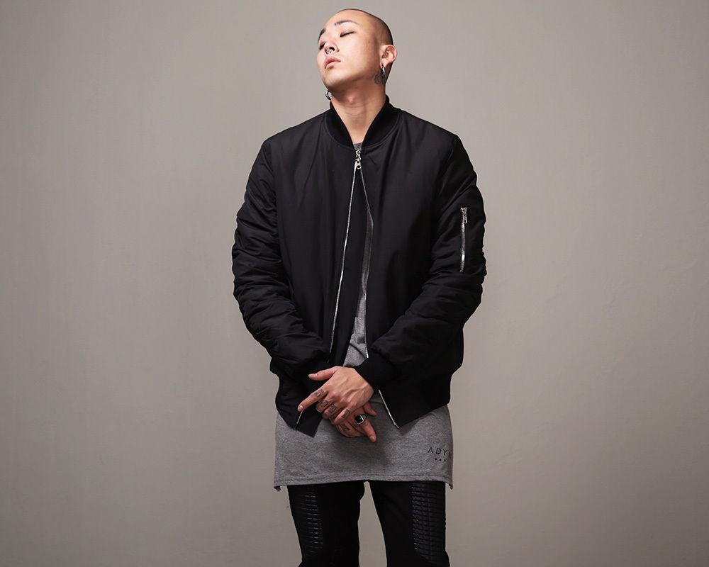 2015 hot mens designer cool slim jackets for men clothes coat represent clothing black ma1 flight bomber jacket(China (Mainland))