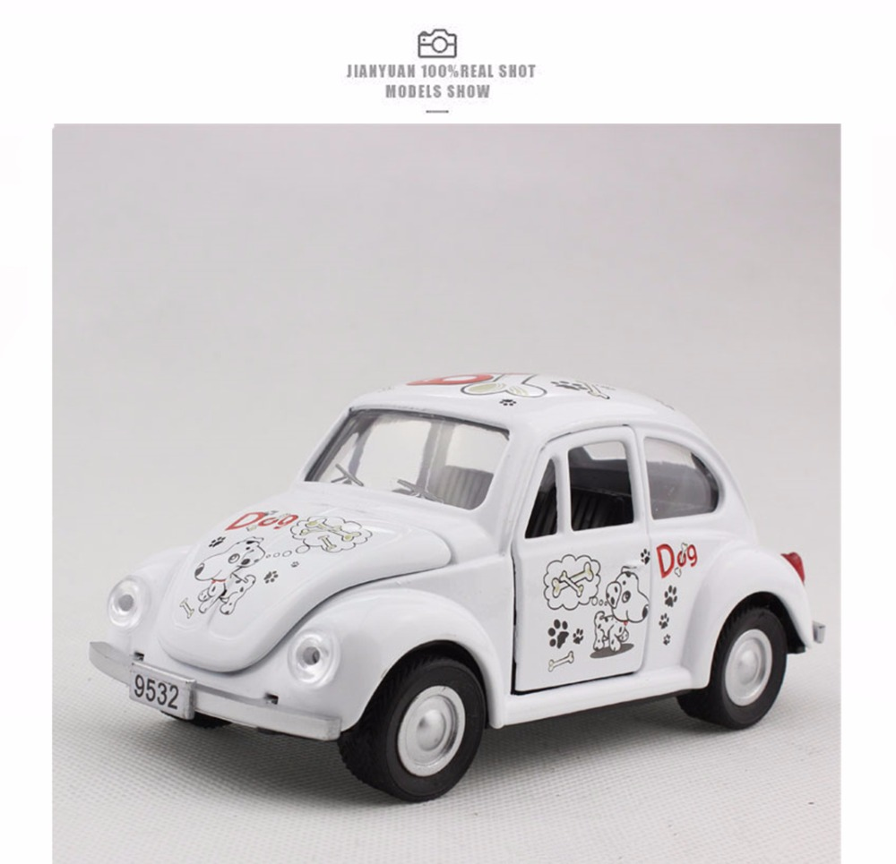 2016 New 1:32 High Simulation VW Beetle Cartoon Alloy Car Model Metal Vehicles Six Color Metal Classical Cars Collection Gifts(China (Mainland))
