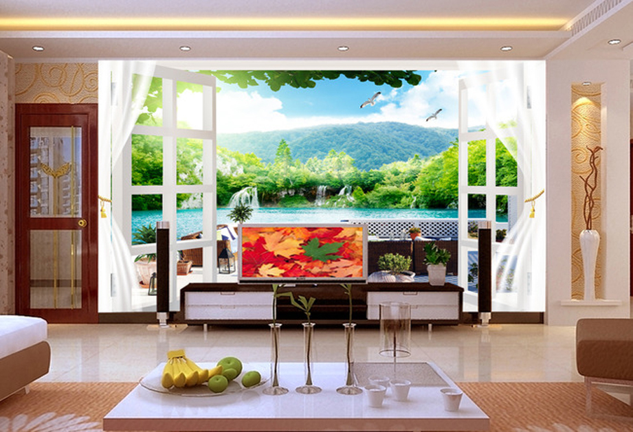 Fashion walpaper paste various restaurants dimensional for Mural 3d simple