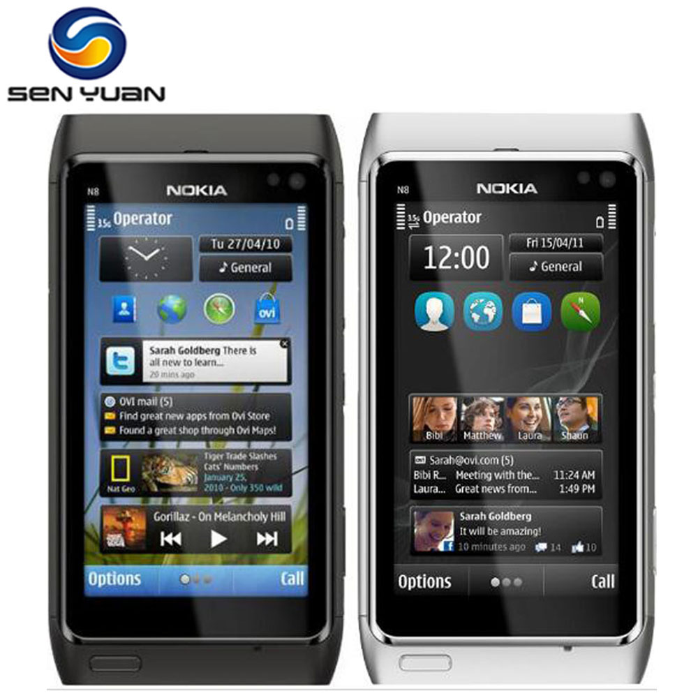 "Original Nokia N8 Mobile Phone 3G WIFI GPS 12MP Camera 3.5"" Touch screen 16GB Storage cheap phone(China (Mainland))"