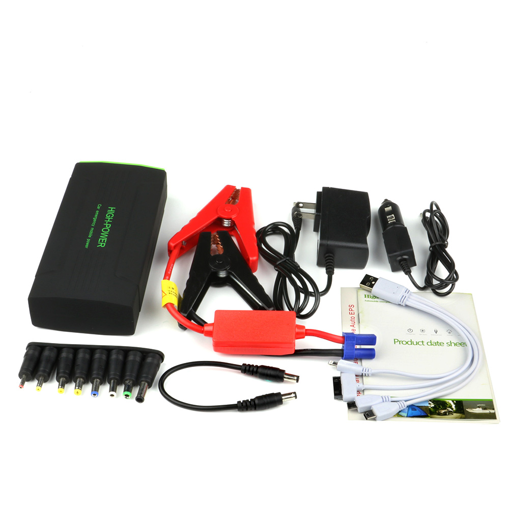 Portable Car Emergency Jump Starter Auto Vehicle Engine Booster EPS Start Rechargeable Battery Pack Supply Charger Powerbank(China (Mainland))