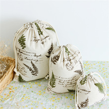 Buy 1pcs Green Tree Drawstring Cotton Linen Storage Bag Gift Candy Tea Jewelry Organizer Makeup Cosmetic Coins keys Bags 49048 for $1.36 in AliExpress store