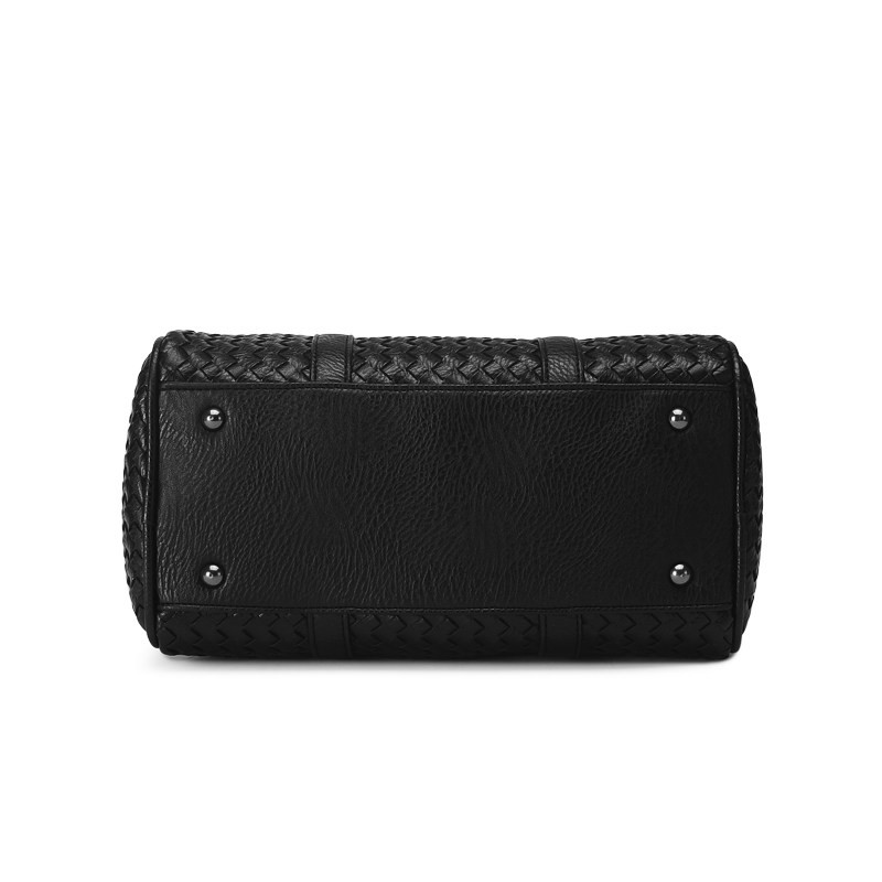 Ladies Stylish Knitting Elegant Crossbody Bag Classy Woven Pattern Stylish Women Handbag Top Quality Sheepskin Shoulder Bag