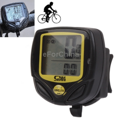 Brand New SD-548C Waterproof Wireless Bicycle Speedometer Bike Stopwatch Free Shipping(China (Mainland))