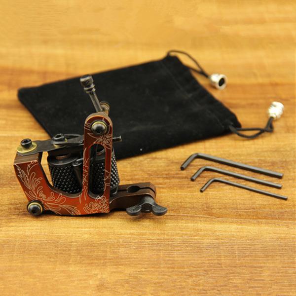 Машинка для тату 10 Liner&Shader 4 pcs liner shader tattoo rotary motor gun machine kit set swashdrive