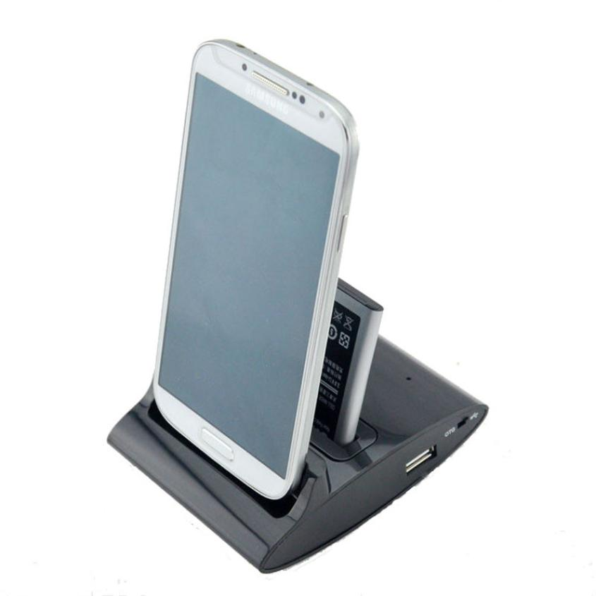 Hot selling New! Dual USB Battery Charger Charging Dock Cradle for Samsung Galaxy S4 i9500 1pc(China (Mainland))