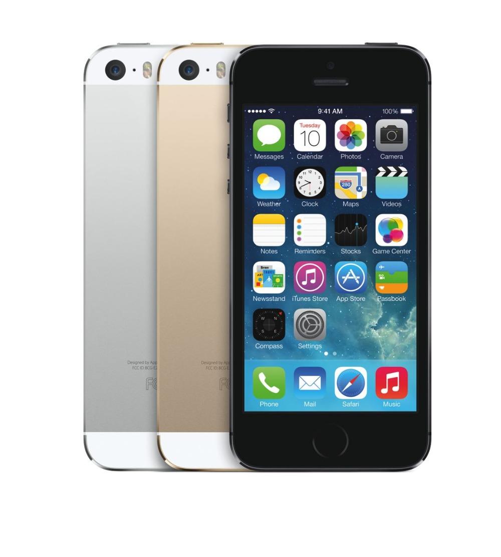 Original 16GB Apple Iphone 5S Unlocked 5S iOS 1GB RAM 16GB ROM Touch ID Fingerprint excellent conditions phone