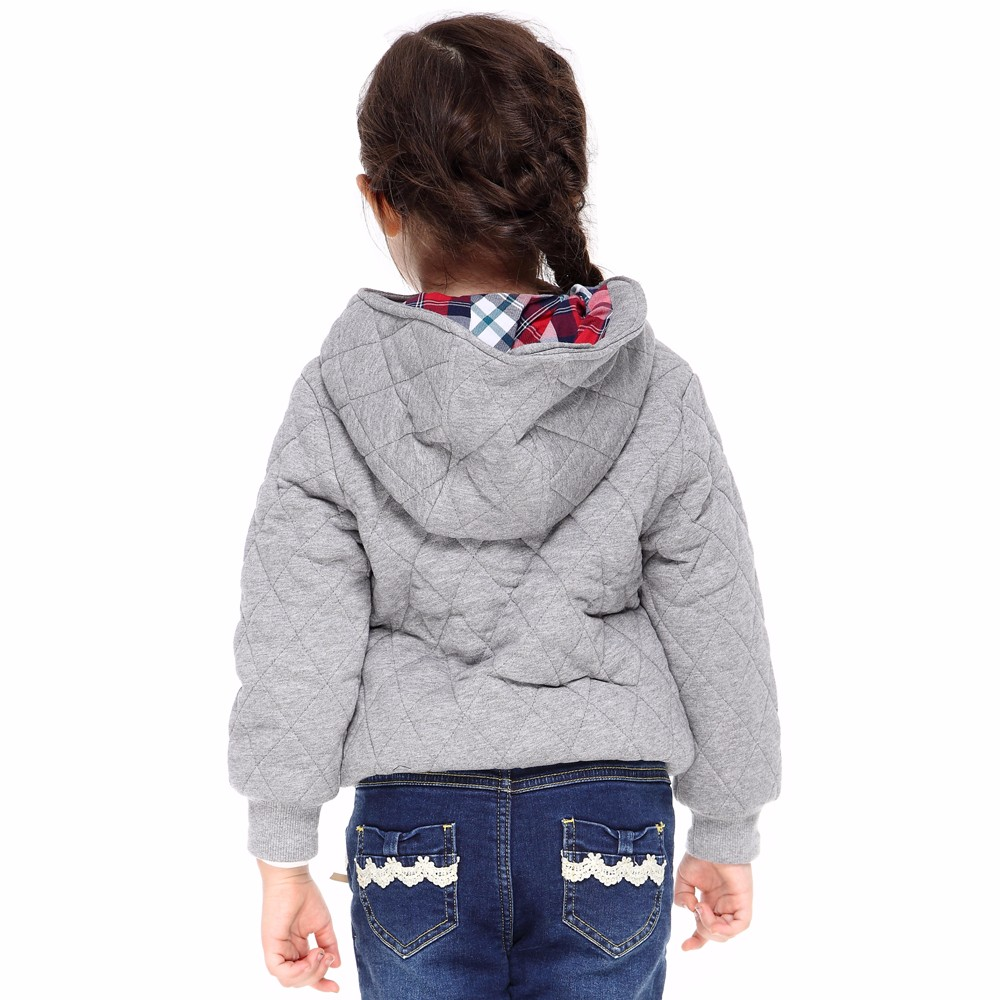 PCORA Girls Outerwear Coat Autumn&Winter Thick Keep Warm Hooded Cotton Kids Girls Clothes High Quality Brand Children Clothes