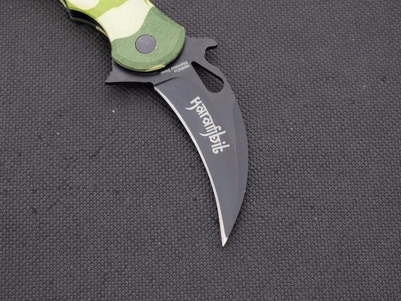 Buy New Karambit Claw Knife FOX Folding Knife 5Cr13Mov Blade Survival Hunting Camping Tactical Knives Outdoor EDC Tools XX9 cheap