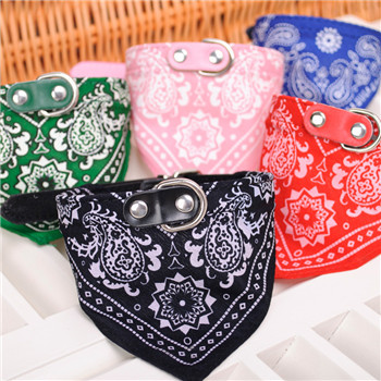 Wholesale Dog Bandana Scarf Collar Pet Cat Puppy Collars Harness Leash Fashion Dog Necklaces Pet Supplies For Small Dogs Cats(China (Mainland))
