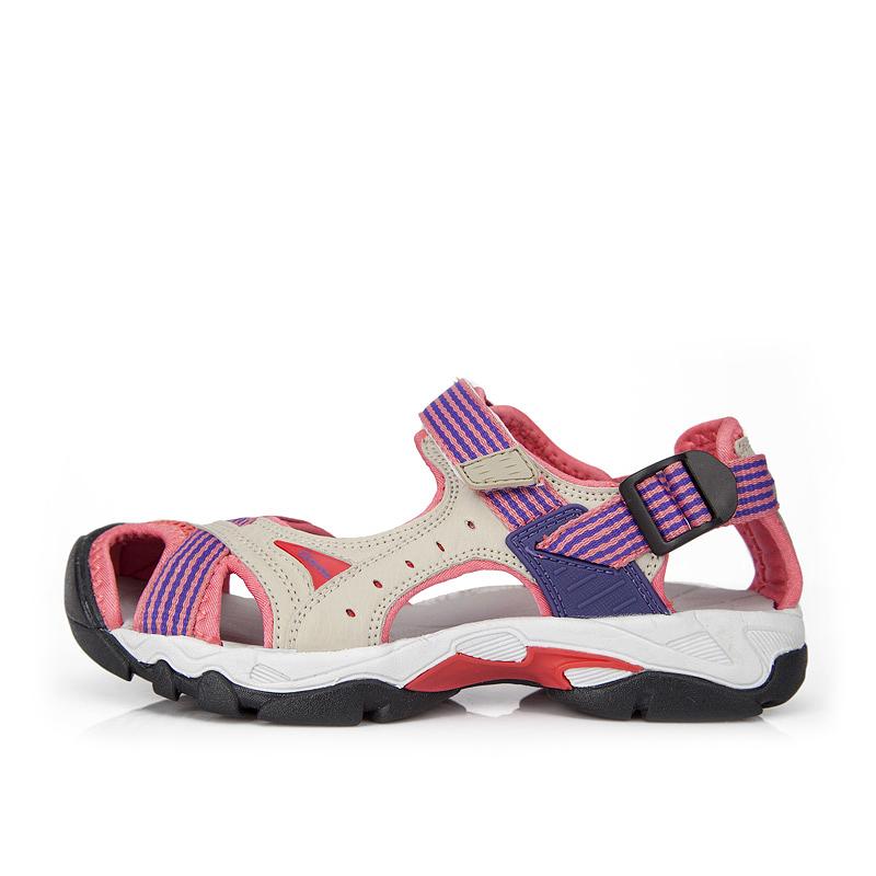 Clorts 2015 New PU Women Sandals Flat Shoes Outdoor Platform Shoes Velcro Women Platform Beach Shoes for women Casual SD-202B