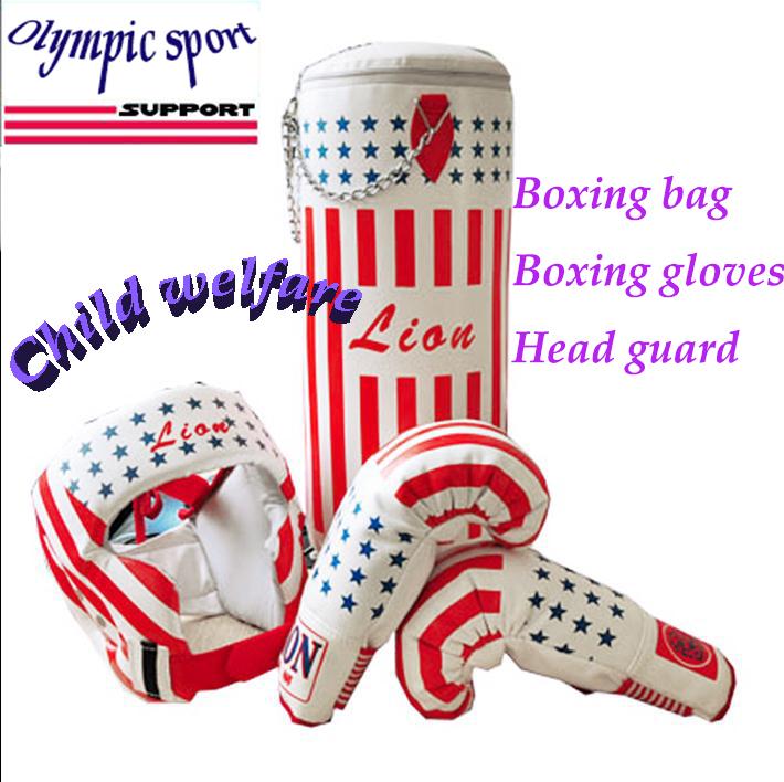 Child gift gloves sandbag hanging household gloves boxing sandbag helmet set eco-friendly PU/ child boxing bag/kids gloves<br><br>Aliexpress