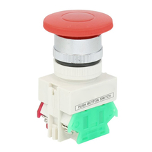 Buy Panel Mounting Red Momentary Push Button Switch AC 660V 10A 1NO 1NC DPST for $1.32 in AliExpress store
