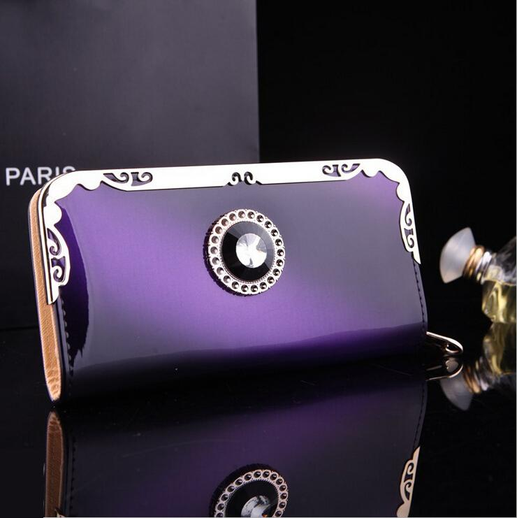 2015 New Arrival Women'S Long Design Wallet Purse Fashion High Capacity Wallets Contrast Color Zipper Clutch(China (Mainland))