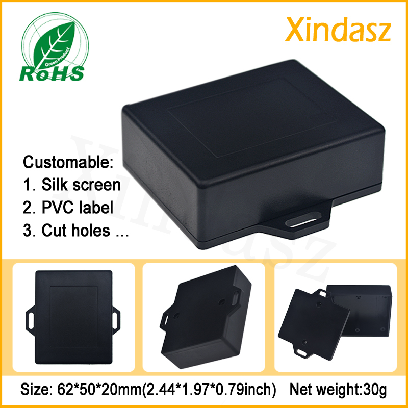 (XD0104087 1)62*50*20mm Black junction box wall mounting plastic enclosure - Custom factory store