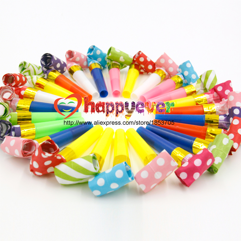 24PCS Small Multi Color Party Blowouts Whistles Kids Birthday Party Favors Decoration Supplies Noicemaker Toys Goody Bags Pinata(China (Mainland))