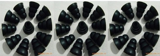 image for 6 Pairs 3 Sizes (S M L ) Three Layer Silicone In-Ear Earphone Earbuds