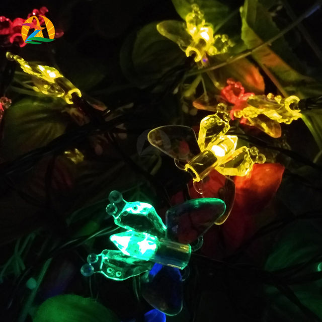 Christmas Novelty Lights Outdoor : Novelty Outdoor Lighting Strings 10M 60 LEDs Solar String Lamps Butterfly Party Holiday ...
