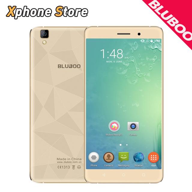 Майя 3 Г WCDMA Мобильного Телефона BLUBOO 16 ГБ ROM 2 ГБ RAM 5.5 дюймов Android 6.0 MTK6580A Quad Core 1.3 ГГц Dual SIM 3000 мАч Мобильного Телефона