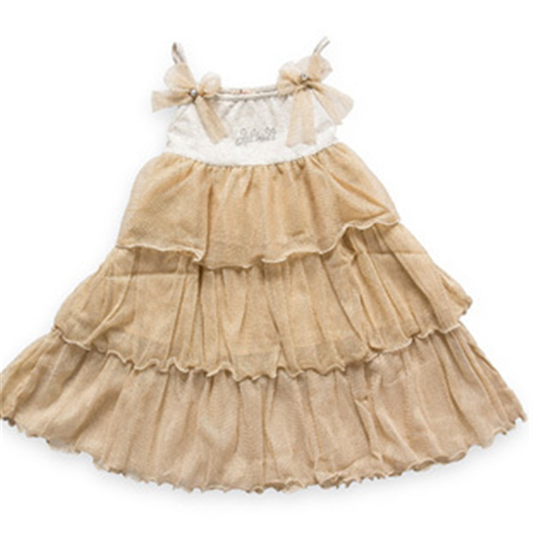 New Arrival Kids Princess Dress for Cute Girls Summer Wear Tiered Dress, Free Shipping A2988(China (Mainland))