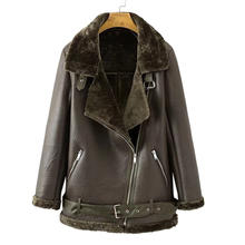Popular Faux Fur Collar Leather Jacket-Buy Cheap Faux Fur Collar ...