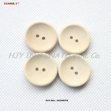 (200pcs/lot) 25mm Unfinished Personalized button plain wooden button with your own message or shop name - AD0076(China (Mainland))