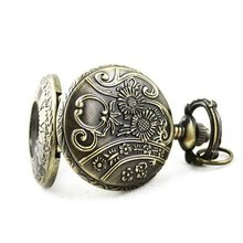 Mini Lady Roman Archaize Pocket Quartz Necklace Watch freeship(China (Mainland))