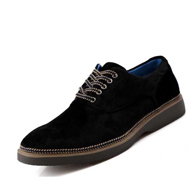 Autumn spring men suede shoes British lace up round toe oxfords Fashion rubber flats shoes Casual men shoes Z374