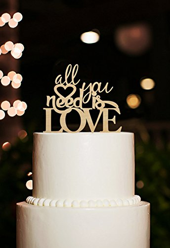 Unique Wedding Cake Topper-Romantic Love Cake Topper-Custom All You Need Is Love Cake Topper Casamento Wedding Decoration(China (Mainland))