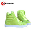 Casual Men Shoes Korean Candy Color Patent Leather British Style Street Dance Shoes Male White High