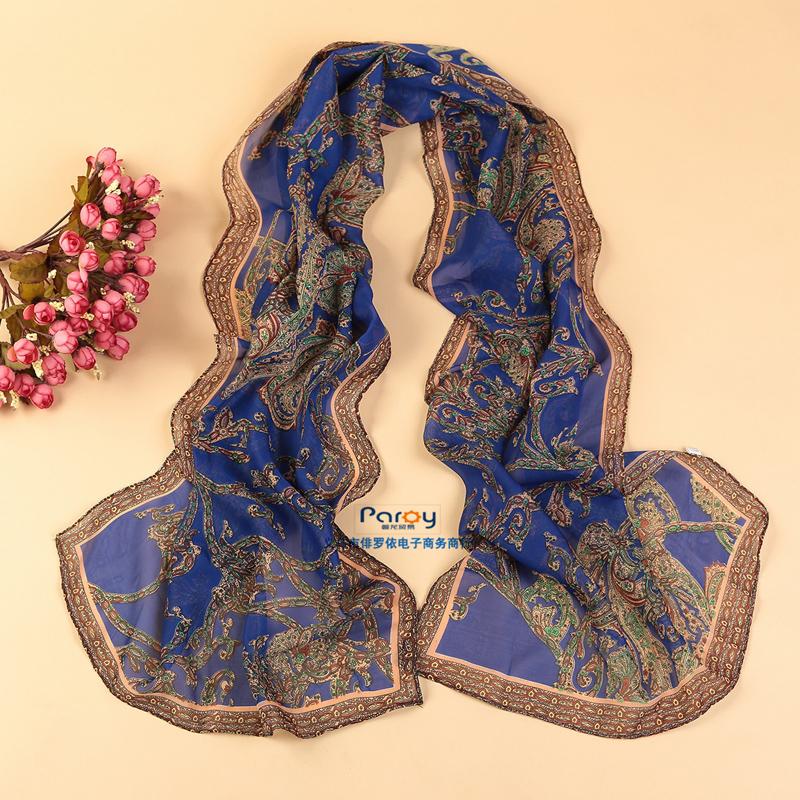 2016 fashion women summer spring Accessories scarf pashmina flower shawl cape silk chiffon tippet muffler(China (Mainland))