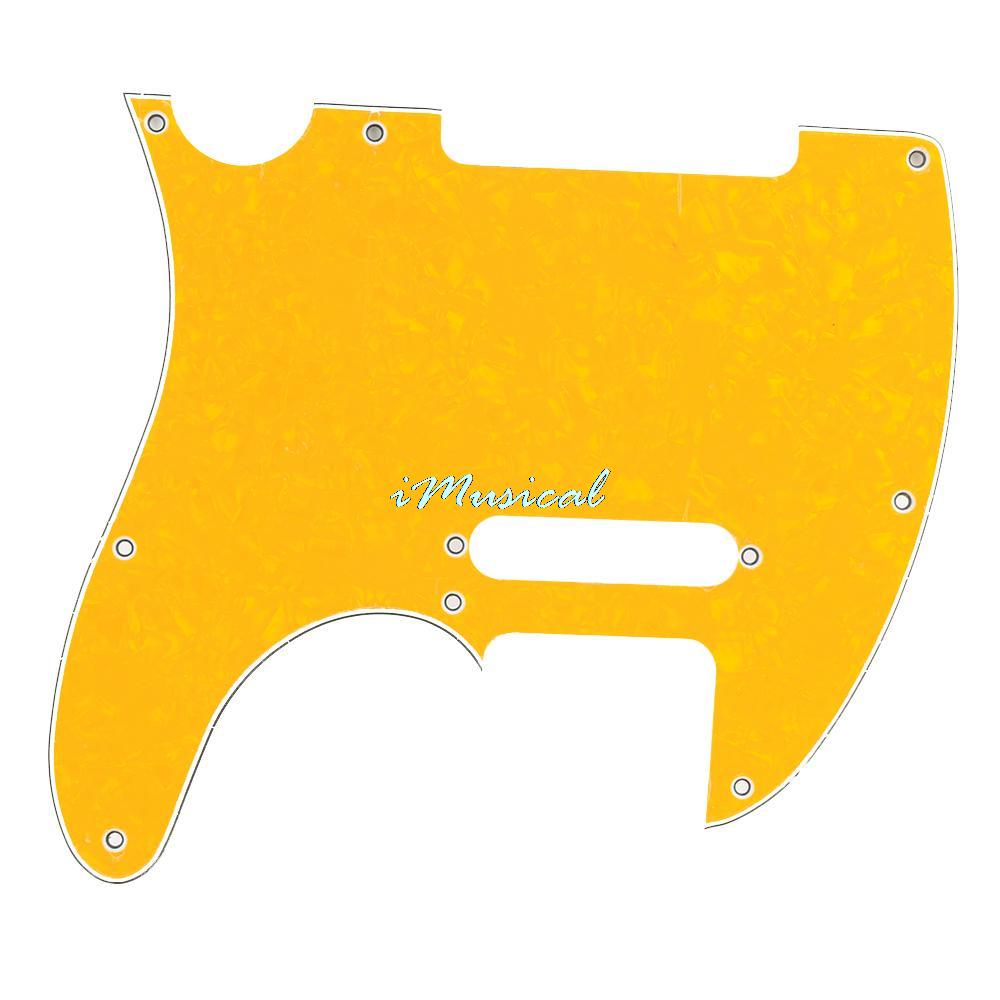 Yellow Pearl Pickguard Scratchplate for Tele Electric Guitar 3 Ply Pick Guard(China (Mainland))