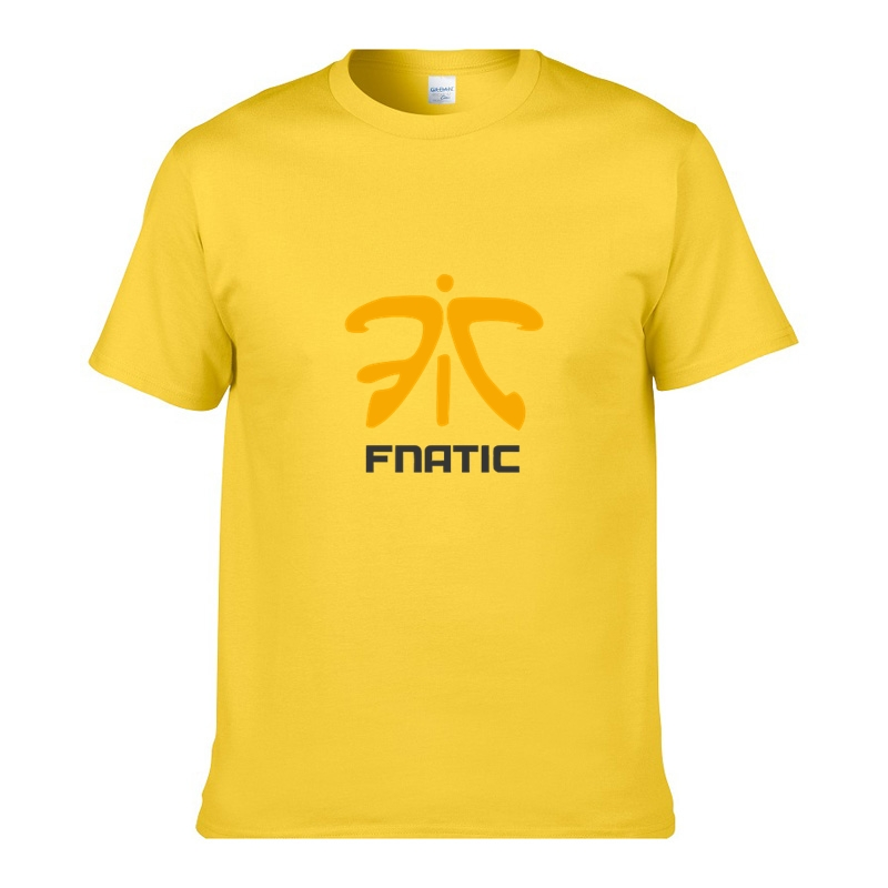 Men T shirt Fnatic Game Team O Neck Man Cotton Short Sleeve tshirt Top Tee Brand Printed t-shirt homme Plus size XS-XXL(China (Mainland))