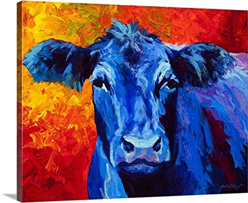 Modern Wall Art 100% Handpainted Abstract Pictures Blue Cow Pictures on Canvas Oil Paintings for Wall and Home Decorations(China (Mainland))
