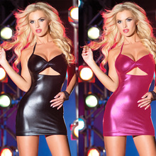 2016 New Women sexy Lingerie Black Pink Leather Latex Catsuit Body Suits Fetish