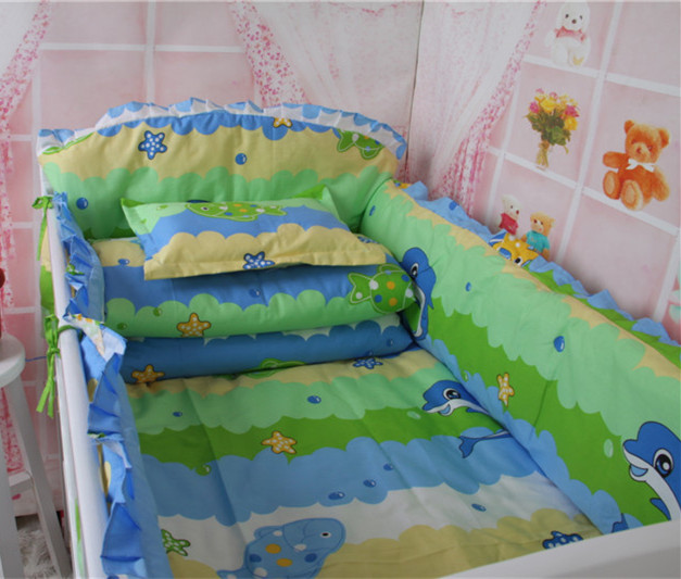 Baby Cot Bedding Set,Baby Cot Beds,Breathable Crib Bumper,120x70cm,Nursery Comforter Cot Crib Bedding Set Bumper Animal Style<br><br>Aliexpress