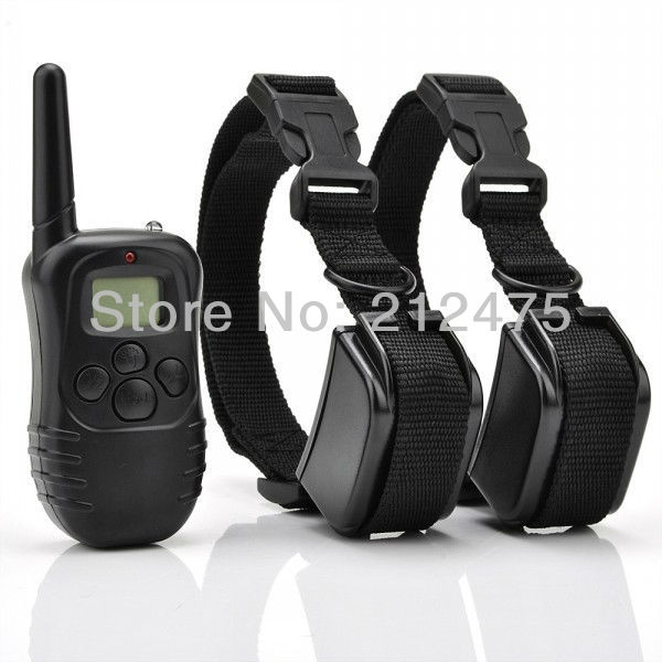 Brand New 2 DOGS LCD 100LV ELECTRIC SHOCK VIBRATE REMOTE DOG TRAINING COLLAR TRAINER PRODUCTS SUPPLIES Battery Life(China (Mainland))