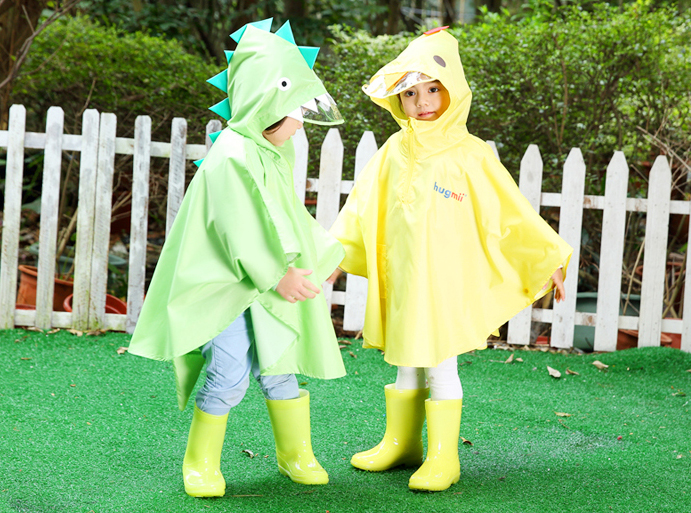 Fashion font b burberry b font kids Cartoon Raincoat Yellow Red Rainwear Transparent Children Rain Coat