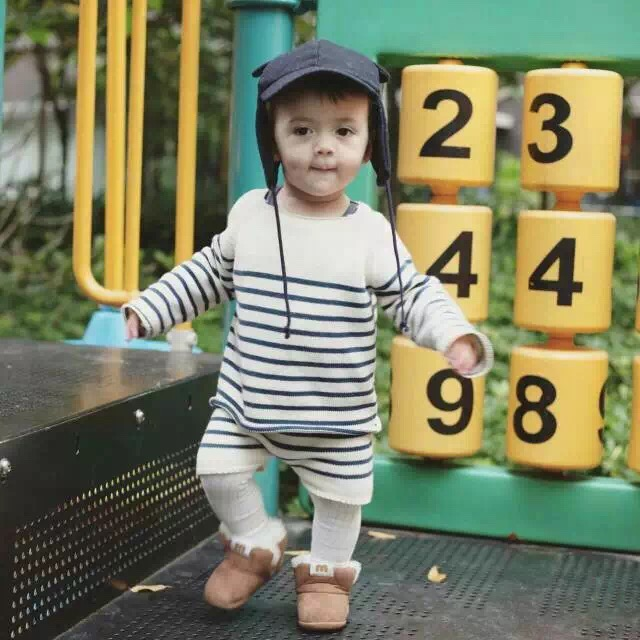 Oeuf Nyc Children Clothing Set Boys Girls Clothing Baby Boutique Clothes+Pants Kids Child knitted Cotton Long Sleeve Cicishop