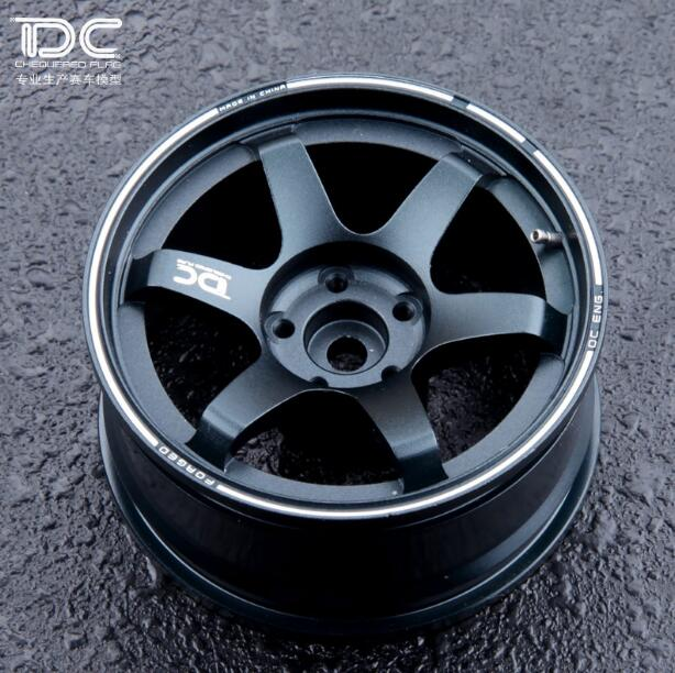 Free Shipping 4pcs 7075 Aviation aluminum alloy Tire Wheel Hubs for TE37 1/10 RC Drift car(China (Mainland))