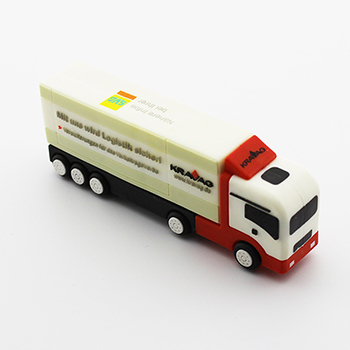 Retail Cartoon Simulation Truck Shape USB Flash Drive Pen Drive Usb Drive Flash Memory Stick Mini Gift Pendrive Free shipping(China (Mainland))