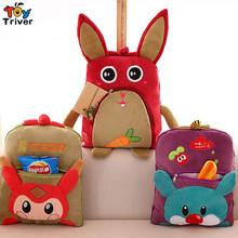 Cartoon owl rabbit bear fox carpet portable blanket reelable baby shower car Air condition travel rug doll Triver Toy