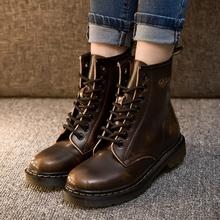 Dr moda botines de cuero otoño / invierno mujeres / hombres de la motocicleta Martin Botas femeninas nieve zapatos Oxfords mujer / hombre(China (Mainland))