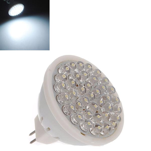 Big Promotion MR16 GU5.3 38 LED Bright White Spot Light Spotlight Bulb Lamp 220V(China (Mainland))