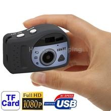 Free Shipping T7000 Black , 1080P Mini Digital Camera / Mini DV , 3.0 Mega Pixels Support TF Card
