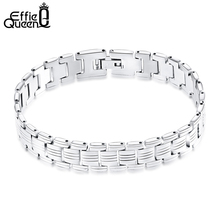 Buy Effie Queen Personality High Stainless Steel Men Bracelet Jewelry Hand Chain Bangle Accessories Men 2017 New IB81 for $3.49 in AliExpress store