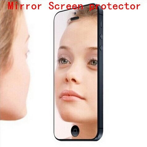 New Fashion Mirror Screen Protector Front Film iphone 5s/5 phone Cover guard Retail opp bag Packing - The Professional 3c Accessories trading company store
