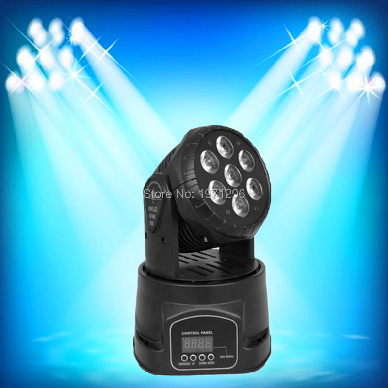 Fast Shipping hot sale LED moving head mini wash 7x12w rgbw quad with advanced 14 channels  DJ Disco Party Stage Effect Lighting<br><br>Aliexpress